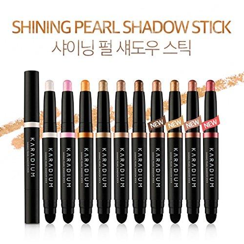 KARADIUM Shining Pearl Smudging Eye Shadow Stick, 1.4 g, #9 Rose Gold by KARADIUM (Image #2)