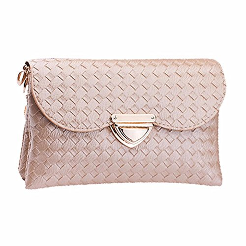 [Voberry® Elegant Lady Women Long Purse Clutch Wallet Zip Bag Messenger Bag on clearance (Khaki)] (Elegant Khaki)