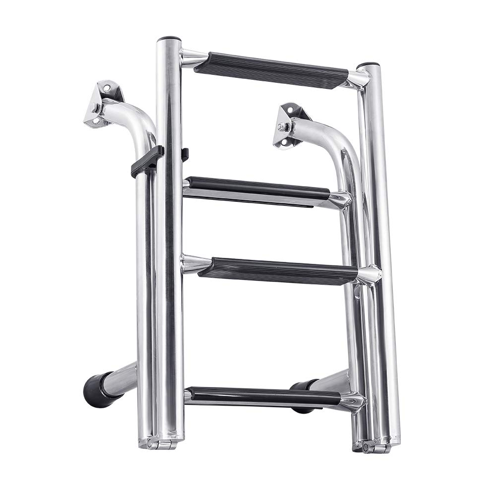 White Water B00361 Stainless Compact Transom Stern Ladder - 4 Step by White Water