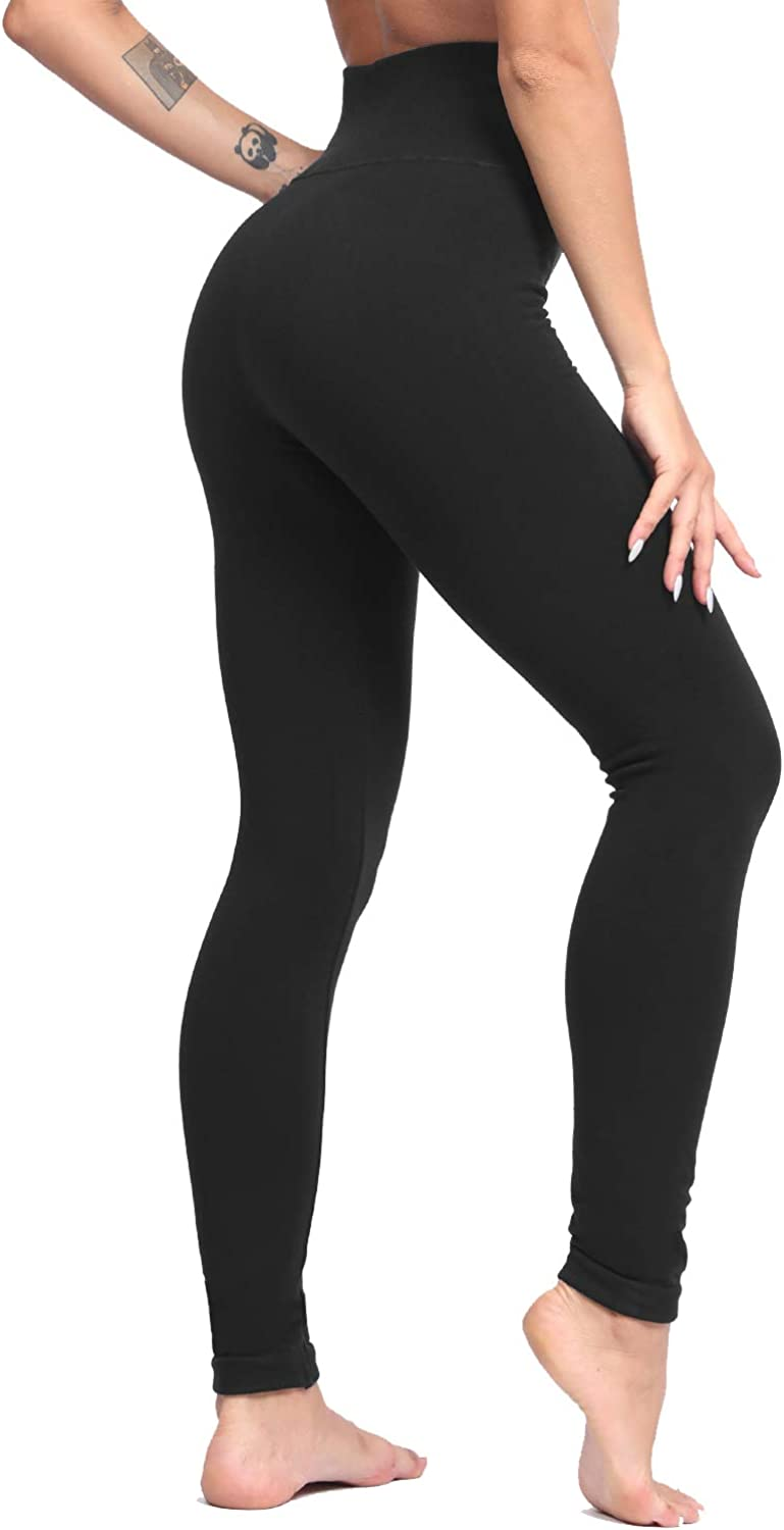 Luoyanxi High Waist Tummy Control Leggings For Women Winter Warm Fleece Lined Seamless Thick Pants At Amazon Women S Clothing Store