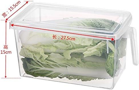 AJ 3 PCS Caja de almacenamiento para nevera cajas organizadoras de plastico para la cocina frigorifico frigorifico cajas congelador recipiente de almacenamiento Caja con tapa abatible, AJ6017+3: Amazon.es: Hogar