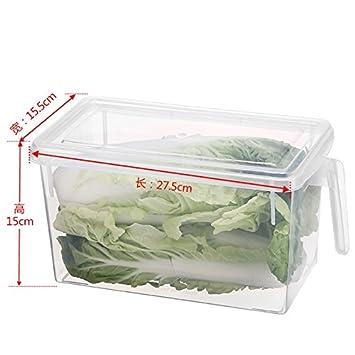 AJ 3 PCS Caja de almacenamiento para nevera cajas organizadoras de plastico para la cocina frigorifico frigorifico cajas congelador recipiente de ...