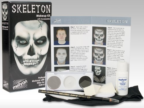 [Mehron Character Make-Up Kit Skeleton] (Skeleton Makeup)