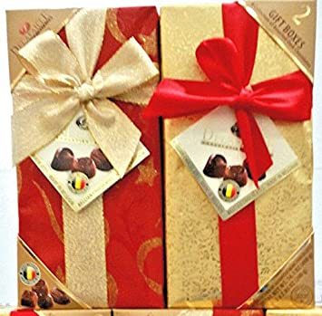 Amazon delafaille premium filled quality belgian dark delafaille premium filled quality belgian dark chocolate gift boxesset 2 pack assorted negle Image collections