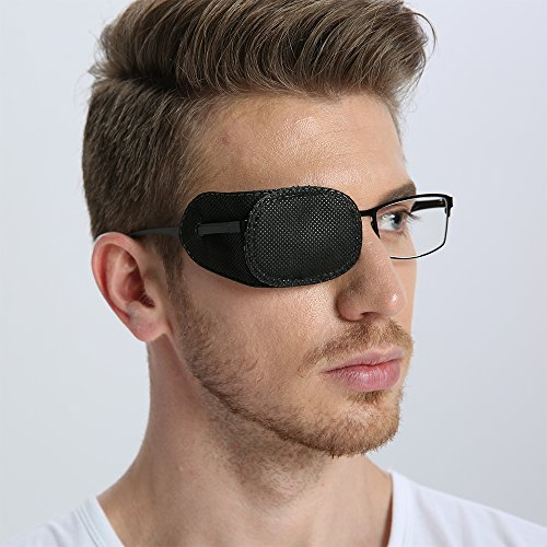 Black eye patches for glasses