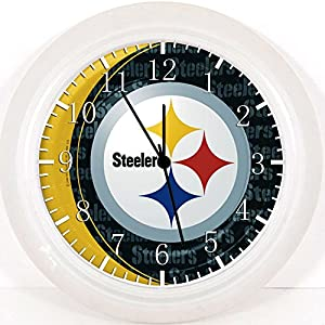 "Steelers Wall Clock X54 Nice For Gift or Home Office Wall Decor 10"" at SteelerMania"