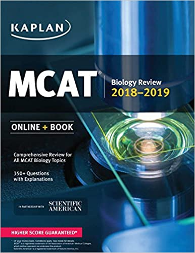 MCAT Biology Review 2018 2019 Online Book Kaplan Test Prep 9781506223773 Medicine Health Science Books Amazon
