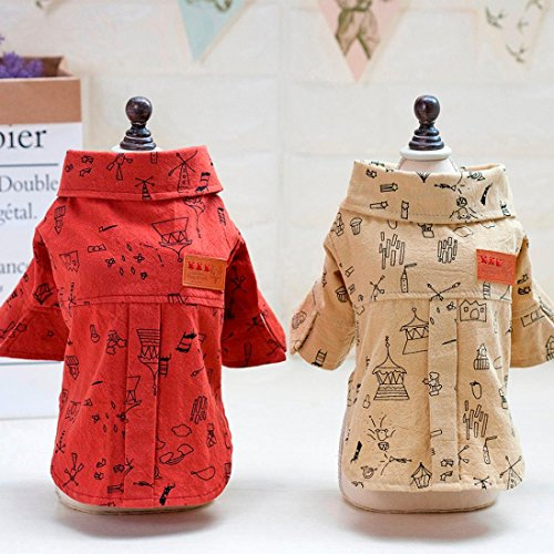 Letdown Pet Clothing, Hot Sale,Summer Teddy Bear Graffiti Shirt Apparel for Pet Dog