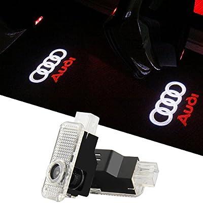 2pcs puerta de coche LED luces para Audi noche imagen luz fantasma ...