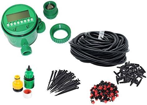 Himifuture Kit de riego con temporizador, sistema de aspersores para jardín, incluye manguera de riego, temporizador, goteo y varios kits de riego: Amazon.es: Jardín