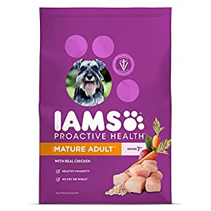 Iams ProActive Health Mature Dry Dog Food for All Dogs – Chicken, 29.1 Pound Bag
