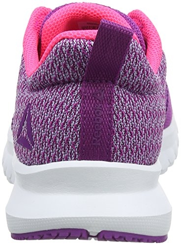 Reebok Print Lite Rush, Zapatillas de Running Para Mujer Morado (Aubergine/Purple Fog/Acid Pink/White 000)