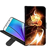 Samsung Galaxy S7 Edge Case, Pikachu Pokemon PU Leather Folio Flip Wallet Case Cover with ID Credit Card Holder with Stand for Samsung Galaxy S7 Edge + Thewart_Eight® Stylus Pen (#001)