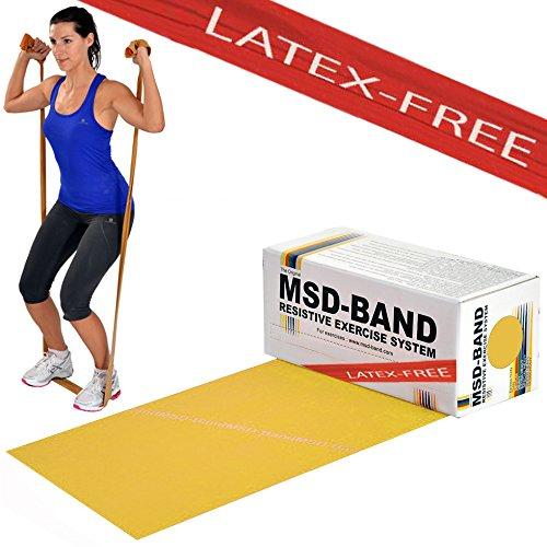 MSD bande Latex free légère 5,5MT réhabilitation bande élastique jaune