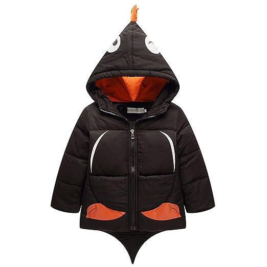 2070b0c2261d Amazon.com  Children Boys Girls Hooded Coat Winter Warm Cartoon ...