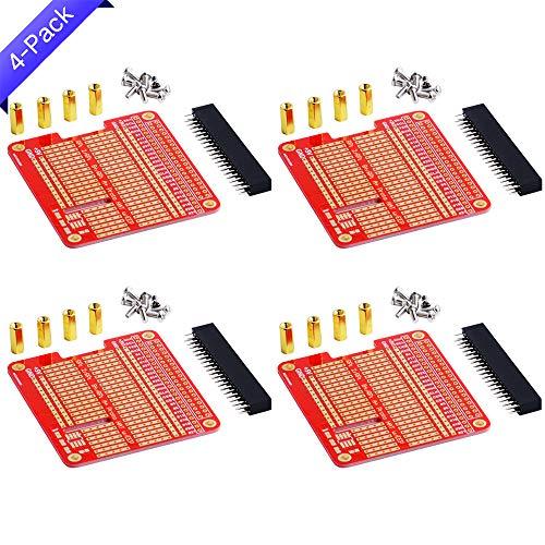 GeeekPi 4X Prototype Breakout DIY Breadboard PCB Shield Board Kit for Raspberry Pi 3 2 B+ A+