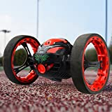 Bounce Car Threeking RC Car RC Bounce Car Jumping Car RC Smart Car Stunt Car with 2.4GHz Real-time Transmission