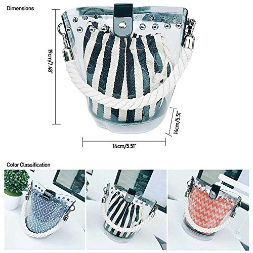 Transparent 2018 Approved Clear Bag Security Trend Stadium C Messenger Fashion Waterprof Shoulder Tote AOLVO PVC Handbag Bag CrossBody 4dwvCxCq