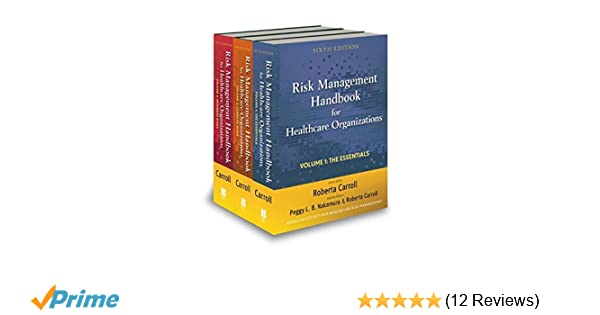 Risk management handbook for health care organizations 3 volume set risk management handbook for health care organizations 3 volume set 9780470620809 medicine health science books amazon fandeluxe Image collections