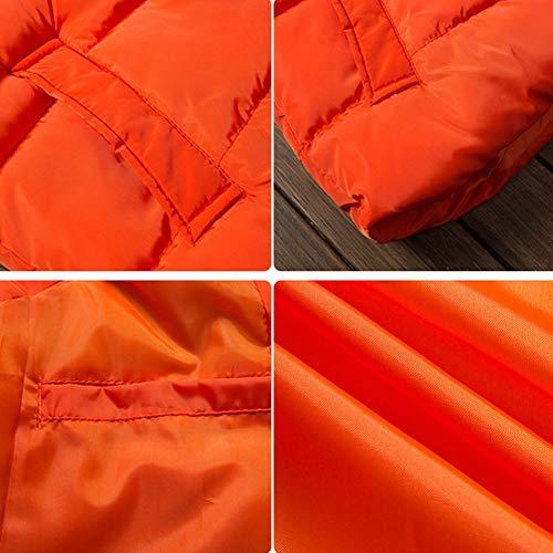 Orange Orange Orange Caldo Giacca Maniche Piumino Cappotto Senza Senza Senza Gilet Inverno Smanicato Giubbotto Uomo GladiolusA xqRIPw