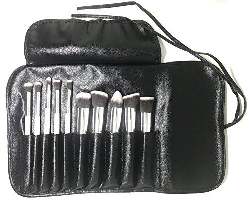 Set de brochas para Maquillaje Kabuki | 10 piezas Profesional | Cerdas Blandas y Aterciopeladas | Ideal para aplicar...