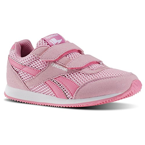 Reebok Royal Cljog 2rs 2v, Zapatos de Primeros Pasos Para Bebés Rosa / Blanco (Icono Pink / Solar Pink / White)
