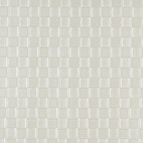 - G659 Pearl Shiny Basket Woven Look Upholstery Faux Leather By The Yard