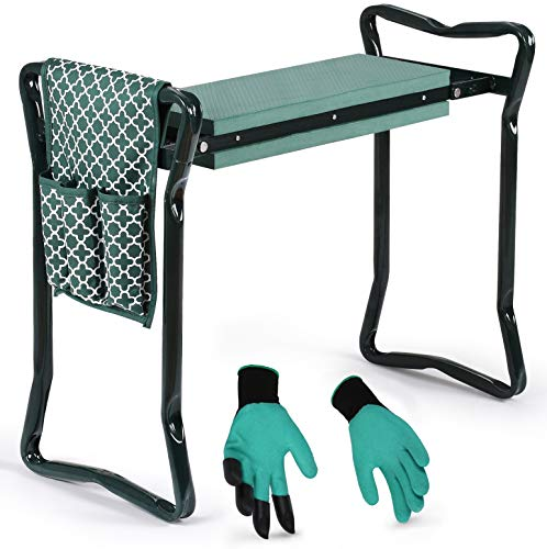 Garden Kneeler And Seat - Protects Your Knees, Clothes From Dirt & Grass Stains - Foldable Stool For Ease Of Storage…