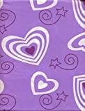 Divatex Kids Lavender Lilac Hearts Twin Sheet Set