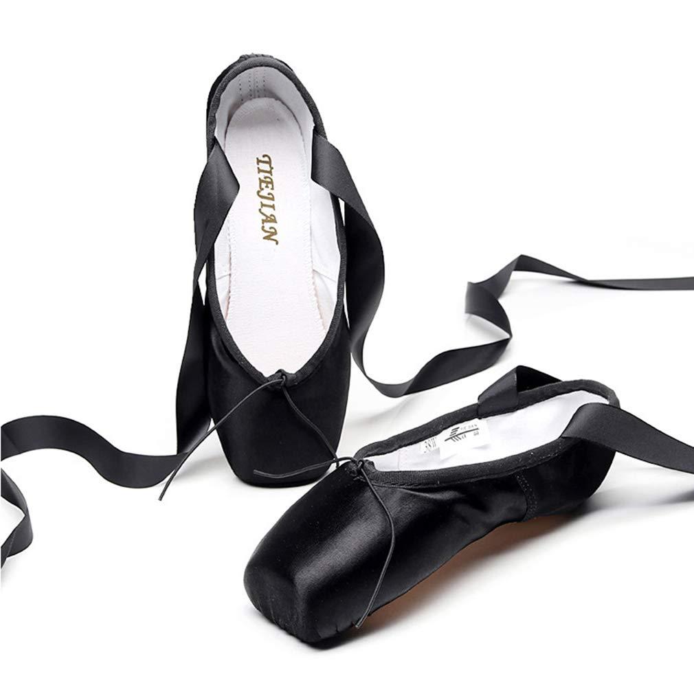 b086032864636 Chaussure de Ballet Pointe Satin Ballet Chaussure de Danse Pilates Yoga  Gymnastique Chaussures Doux Toile Split Plate Ballet Chaussons ...