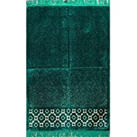 Islamic Prayer Rug Velvet Muslim Namaz Sajjadah Janamaz Turkish Carpet Wide Solid
