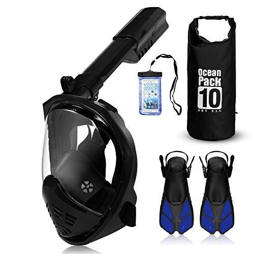 UGI 2018 New Foldable Full Face Snorkel Mask - 180