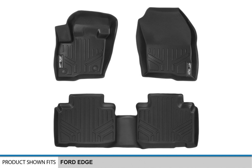 SMARTLINER Floor Mats 2 Row Liner Set Black for 2015-2018 Ford Edge Maxliner USA A0192//B0192