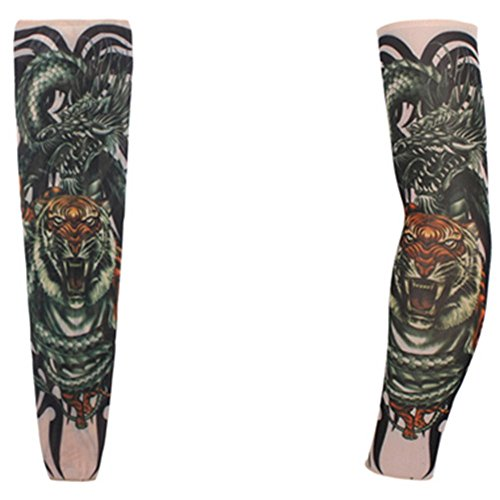 KAKA(TM 2 pcs (A pair) Dragon Wei Design Fake Temporary Tattoo Arm Cover up Sleeves Body Art Arm Stockings Accessories