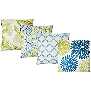 Phantoscope New Living Blue&Green Decorative Throw Pillow Case Cushion Cover 18