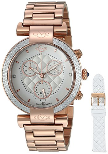 GV2-by-Gevril-Womens-Berletta-Chrono-Swiss-Quartz-Stainless-Steel-Casual-Watch-ColorRose-Gold-Toned-Model-1552