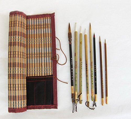 Professional Chinese Art Brush Set 8 Pcs Chinese Paint Brush Kitwith Mat