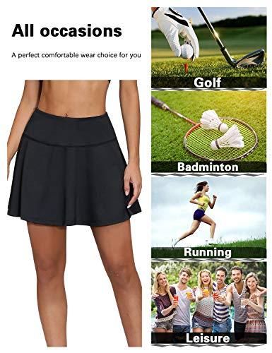 Blevonh Women's Tennis Skort Active Pleated Skirts with Pocket for Running Golf