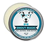 Snout Magic: 100% Organic and Natural Dog Nose Butter (2oz) – Proven to Cure Your Dog's Dry, Chapped, Cracked, and Crusty Nose