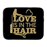 Love Is In The Hair Fun Stylist Hairdresser 13/15 Inch Laptop Tablet Messenger Bag Case