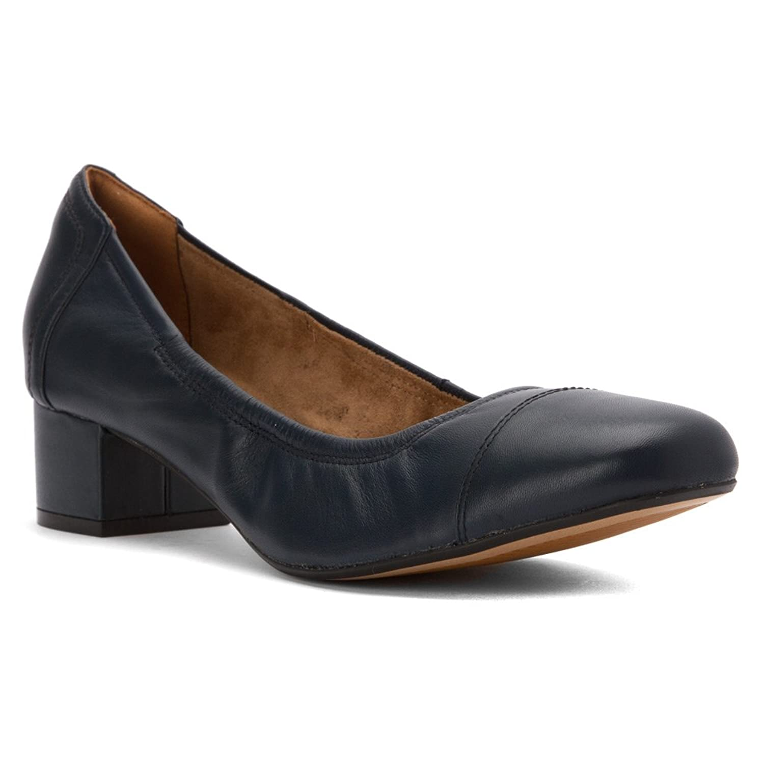 Clarks Cala Dor Navy Leather Women