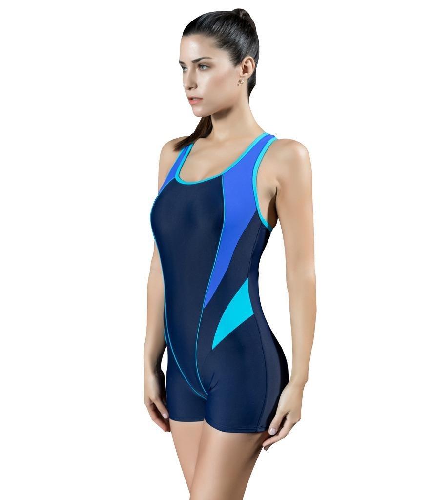Arcweg Costumi da Bagno Interi Femminili Costumi per il Mare Boxer Stile Pad Reggiseno Rotondo Rimovibile