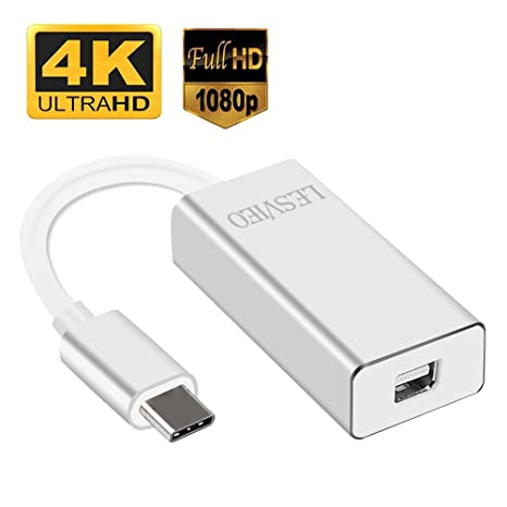 USB 3 1 Type C to Mini Display Port Adapter–Easily use a Second Display and  Monitor for Apple MacBook Chromebook Pixel–LESVIEO USB C to Mini DP