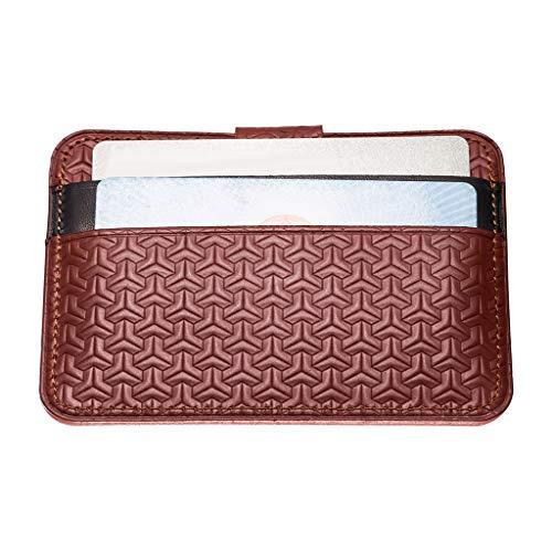 in Porta corto Portafoglio B marrone per Portamonete Baosity pelle sottile stile minimalista 1 Portafoglio carte uomo UwnRqfaxS