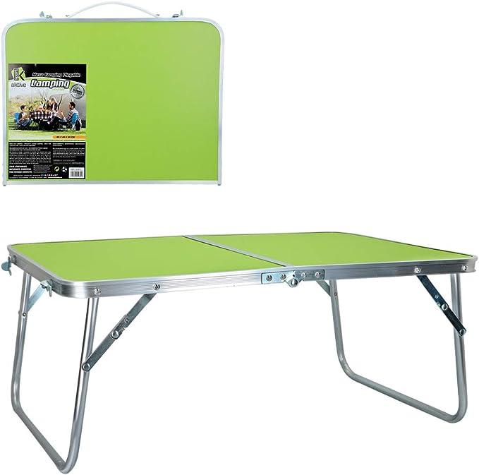 Aktive 52811 Mesa Plegable Camping Sport, 60 x 40 x 26 cm, Verde