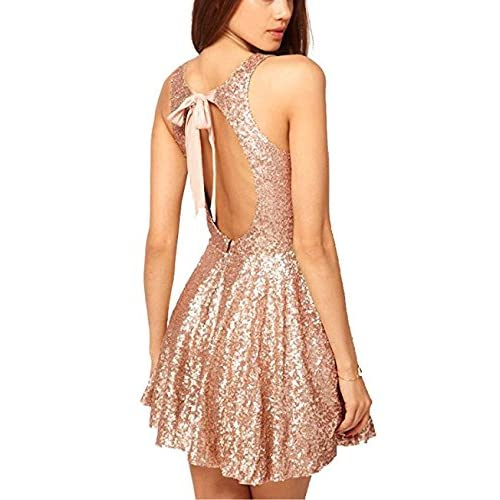 Pink and Gold Short Dresses: Amazon.com