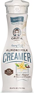 product image for Califia Farms Vanilla Almondmilk Coffee Creamer with Coconut Cream, 25.4 Oz (Pack of 3) | Dairy Free | Plant Based | Nut Milk | Vegan | Non-GMO