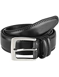 Men's Dress Belt ALL Genuine Leather Double Stitch Classic Design 35mm All Sizes