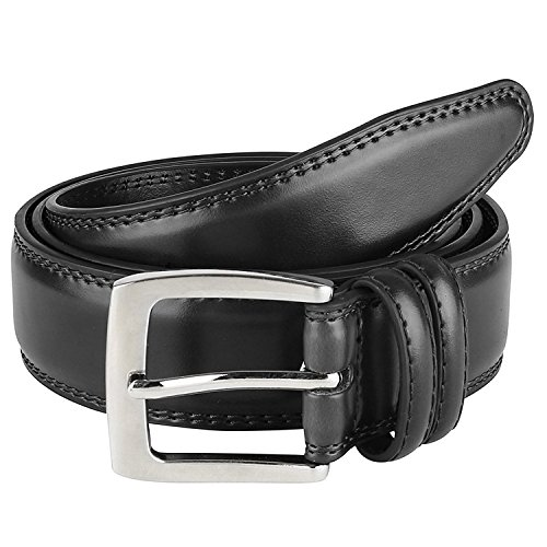 Men's Dress Belt  Leather''ALL'' Genuine Leather 35mm - Black (44) by Prospero Comfort