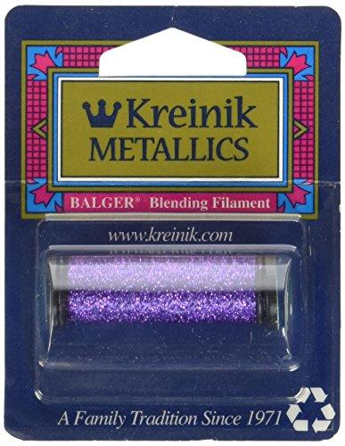 Kreinik Blending Filament 50m Metallic Thread for Sewing, 55-Yard, Purple